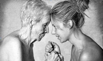 older woman and younger daughter