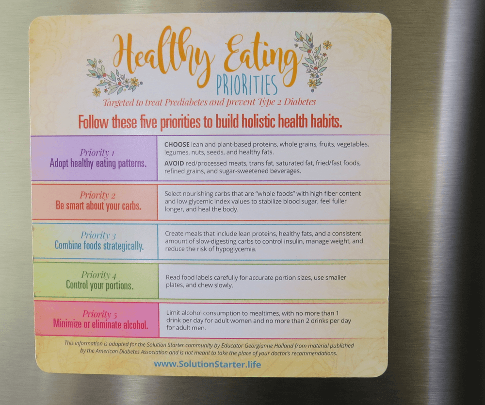 healthy eating magnet
