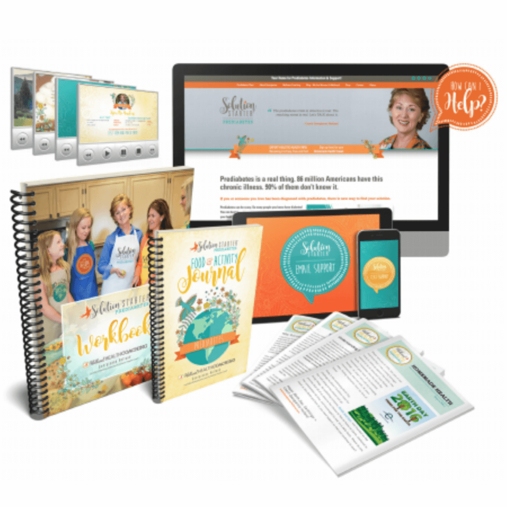 Image of the class materials from the Solution Starter Program for Prediabetes offered by Diabetes Educator and Health Coach Georgianne Holland.