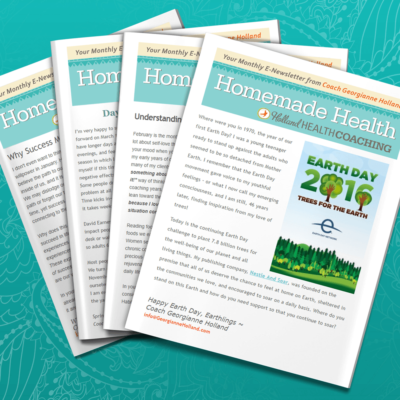 Homemade Health Newsletter Photo and link to Sign Up
