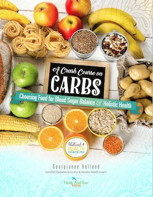 Cover to A Crash Course on Carbs for prediabetes ebooklet